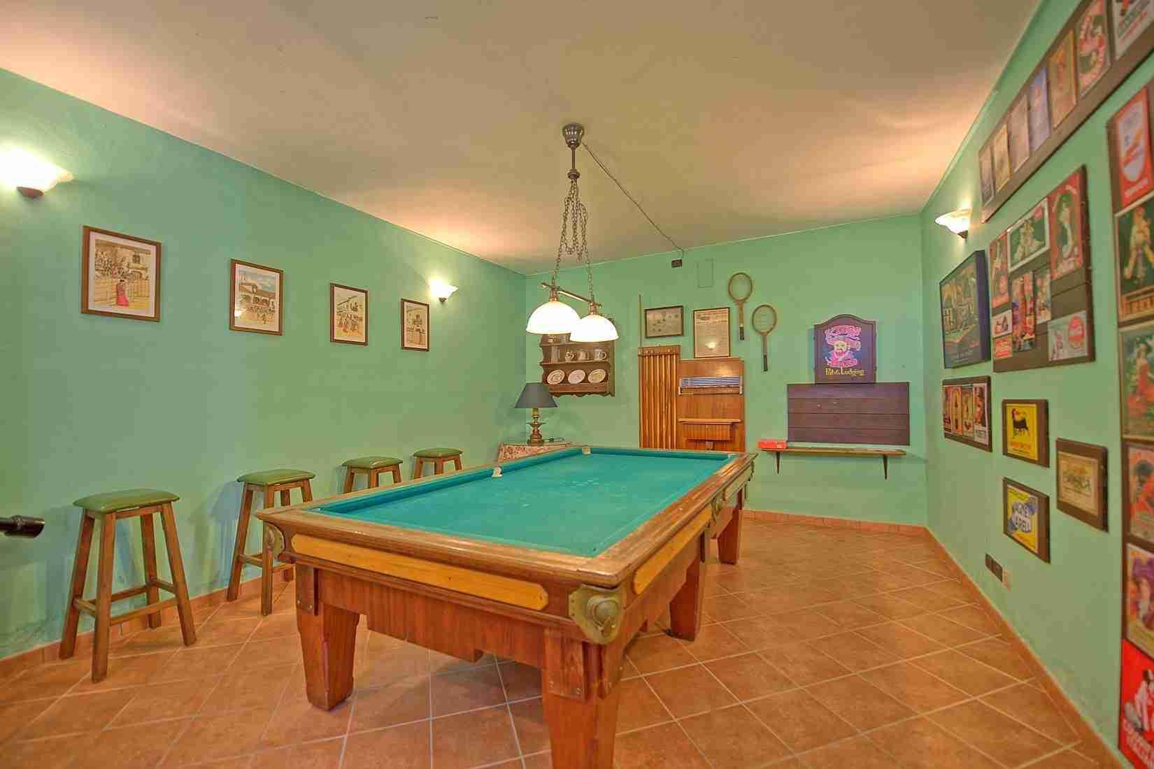 24 Clara billiard room