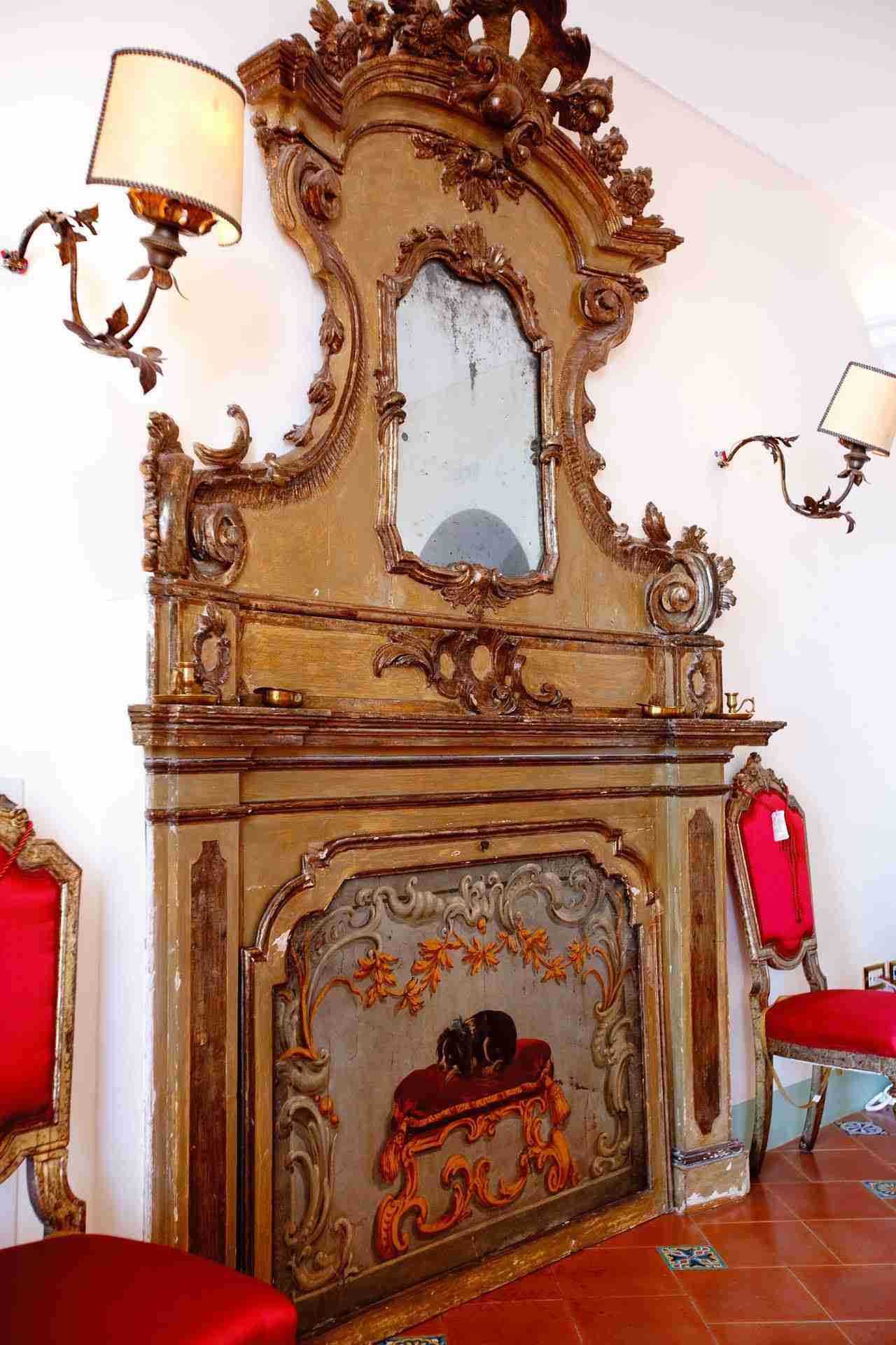 34 Positano fireplace